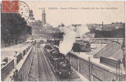 75. PARIS. Quai D'Orsay. Chemin De Fer Des Invalides. 4193 (train) - Unclassified
