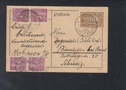 Dt. Reich PK 1923 Württ. Bahnpost Nach Schweiz - Deutschland