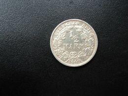 ALLEMAGNE * :  1/2 MARK   1916 F    KM 17     TTB - [ 2] 1871-1918: Deutsches Kaiserreich