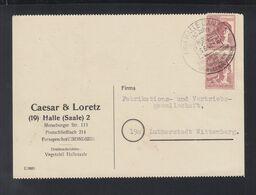 Alliierte Besetzung Paar Auf PK 1948 Halle Nach Wittenberg - Bizone