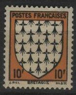 FR 1712 - FRANCE N° 573 Neuf** Armoiries Bretagne - Unused Stamps