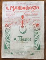 IL MANDOLINISTA PERIODICO QUINDICINALE DI SCELTA MUSICA  MANDOLINO E GHITARRA  A TRIESTE INNO MARCIA  EDIZIONE ORIGINALE - Musica Popolare