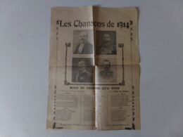 """Les Chansons De 1914 """" Coeur Français, Visions Du Kaiser, Ils Ferment Les Yeux, Nous Ne Pensons Qu'à Vous """" - Dokumente"""