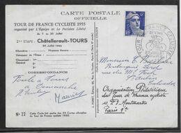 Thème Cyclisme - Tour De France 1955 - 21e Etape Châtellerault-Tours - TB - Ciclismo