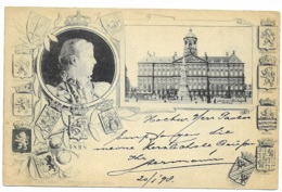 Paleis Van HM De Koningin  - Amsredam  1898   ( Cachet 1898 ) - Amsterdam