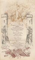 1873 Programme Cartonné Militaire Fête De La Sainte Barbe 7èm Régiment D'artillerie 28x16cm - Documenten