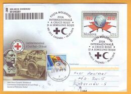 2014 Moldova Moldavie Moldau International Red Cross Day. Special Cancellations. Registered Mail. Postal History. - Moldavia
