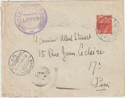 """Cad PAQUEBOT ALEXANDRIE + Cachet Paquebot """"Lotus"""" /50c Facchi 1931 - 1921-1960: Période Moderne"""