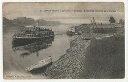 Basse-Indre (Loire-Atlantique - 44) - Le Quai. Départ De L'Abeille Pour Nantes. CP NB. Collection F. Chapeau - Basse-Indre