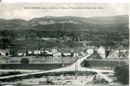 N°3953 R  -cpa Sault Brénz -le Pont Du Rhône à L'intersection De L'Ain Et De L'Isère- - Altri Comuni