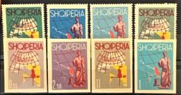 ALBANIA 1962 - MNH - Mi 683-686, 689-692 - Europa - Albania