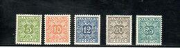 DANEMARK 1934-53 ** - Segnatasse
