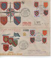 195 34     BLASONS     N° YVRT ET TELLIER 999/1004 - 1950-1959