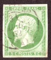 Napoléon III N°12 Vert - Oblitération CàD 31 Décembre 1862 - 1853-1860 Napoleon III