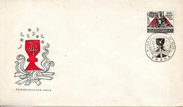 TCHECOSLOVAQUIE. N°1422 De 1965 Sur Enveloppe 1er Jour. Jan Hus. - Theologen