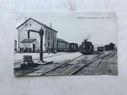 Cpa Rouillac La Gare Locomotive Vapeur Tbe - Rouillac