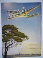 Avion / Airplane / KLM / Constellation / Carte Coupée Manuellement / Card Cut, See Scan - 1946-....: Era Moderna