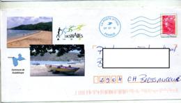 Pap  Beaujard Flamme Muette 37752A Illustré Deshaies Guadeloupe - Biglietto Postale