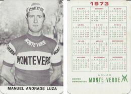 CARTE CYCLISME MANUEL ANDRADE TEAM MONTEVERDE 1973 FORMAT 7 X 10,2 - Radsport