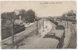 58 COSNE  La Gare - Les Voies - Estaciones Con Trenes