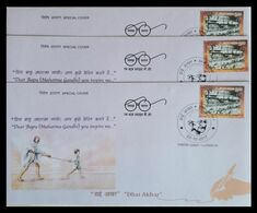 """137. INDIA 2017 SPECIAL COVER """" DHAI AKHAR CAMPAIGN """"(NATIONAL LETTER WRITING COMPETITION) - GANDHI. - FDC"""