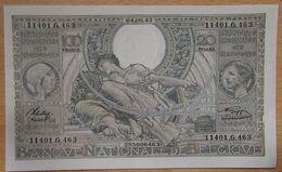 BELGIQUE - 100 Francs - 20 Belgas 04-08-1943 - [ 2] 1831-... : Belgian Kingdom