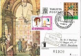 37625. Entero Postal Certificado MADRID 1975. Espamer 75. Motivo Madrid Plaza Mayor - 1931-....