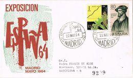 37628. Carta Certificada MADRID 1964. Exposicion ESPAÑA 64 - 1931-Aujourd'hui: II. République - ....Juan Carlos I