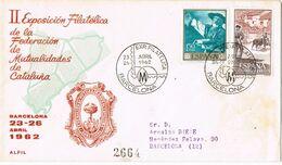 37629. Carta Certificada BARCELONA 1962. Exposicion Filatelica Mutualidades Cataluña - 1931-Aujourd'hui: II. République - ....Juan Carlos I