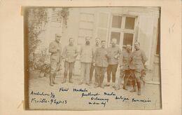 """Photo : Portrait Groupe Militaires Médecins - """"Froville - Ambulance 1/8"""" - 9 Septembre 1915"""" (BP) - Krieg, Militär"""