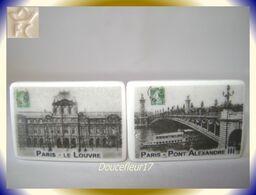 Clamecy ... PARIS ...2 Fèves Cartes Postales ... - Fèves