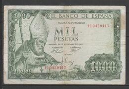 ESPAÑA BILLETE DE 1000 Pts. USADO CON DOBLES  (C.B.) - [ 3] 1936-1975 : Regime Di Franco