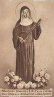 Santino Fustellato Miracolosa Immagine Di S.rita - Devotieprenten