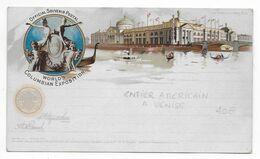 1893 - CARTE ENTIER POSTAL ILLUSTREE De L'EXPOSITION UNIVERSELLE  à CHICAGO ! - ...-1900