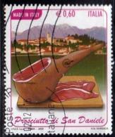 ITALIA REPUBBLICA ITALY REPUBLIC 2009 PROSCIUTTO SAN DANIELE DEL FRIULI USATO USED OBLITERE' - 2001-10: Usati