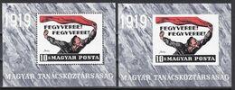 Kü_ Ungarn 1969 - Mi.Nr. Block 70 A + B - Postfrisch MNH - Hojas Bloque