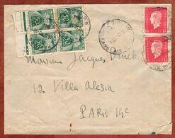 Brief, Rohrpost?, Marianne, Timbres Taxe Portomarken, Paris 1944 (97340) - Segnatasse