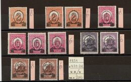 Hungary 1931, Mi. 471-74, Differ. Perforation, Mint**/*. (209a) - Nuovi
