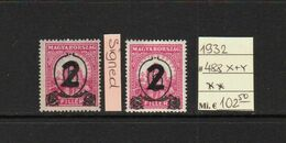 Hungary 1932, Mi. 488 X+Y, One Signed, Mint**. (210a) - Nuovi