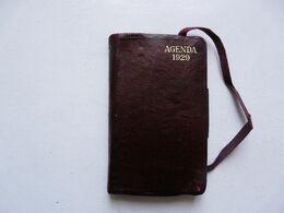AGENDA 1929 - Reliure Cuir Et Annotations - Books, Magazines, Comics