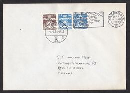 Denmark: Cover To Netherlands, 1983, 3 Stamps, Booklet Strip? (minor Discolouring) - Danimarca