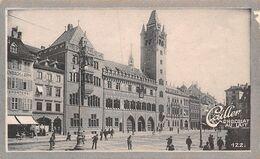Bâle - Basel  Place Du Marché 1898 - 109169 Hab.   - Cailler 122 - Chocolat Au Lait - Texte Au Dos  (~10 X 6 Cm) - Nestlé