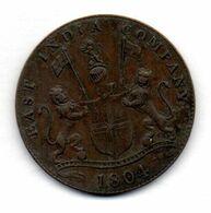 INDONESIA - ISLAND OF SUMATRA - EAST INDIA COMPANY, 4 Kepings, Copper, Year 1804 (AH 1219), KM #267 - Indonesië