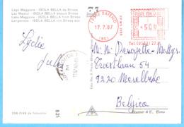 ITALIA (Poste Italiane)-EMA AFFR. MECCANICA -1987-BAVENO NOVARA STEMMA ARALDICA-Sur CPM De Isola Bella Da Stresa - Poststempel - Freistempel