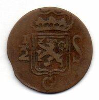 INDONESIA - ISLAND OF SUMATRA - KINGDOM OF THE NETHERLANDS, 1/2 Stuiver, Copper, Year 1819, KM #283 - Indonesia