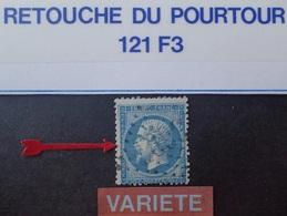 R1917/408 - NAPOLEON III N°22 - LGC - RARISSIME VARIETE ➤➤➤ Retouche Pourtour (121F3) - 1862 Napoléon III
