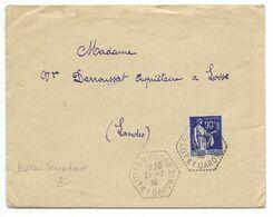POMPOGNE LOT ET GARONNE 1939 /n°368 Cachet Hexagonal Tirets Pour Losse - Postmark Collection (Covers)