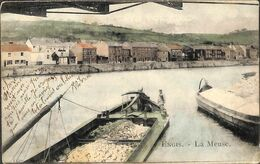 Engis - La Meuse (animée Péniche Colorisée Thiry 1906 (prix Fixe) - Engis