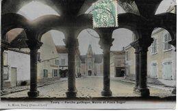 28. TOURY. PORCHE GOTHIQUE, MAIRIE, PLACE SUGER. 1906. - Other Municipalities