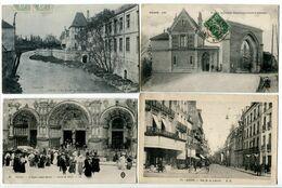 LOT 4 CPA DIJON | Faculté Médecine Hôpital | Entrée Asile D'Aliénés | Eglise St Michel Sortie Messe | Rue De La Liberté - Dijon